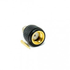 50 Ohms Male SMA Connector Black Plastic Shell Solder Type