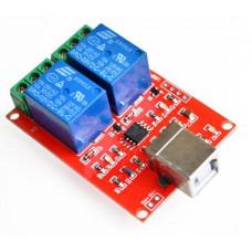 5V 2 channel USB PC Intelligent Control Relay Module