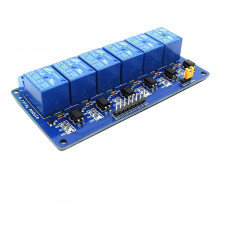 6 Channel 5V Relay Module with Optocoupler