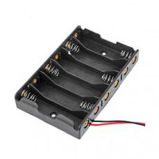 6xAA Battery Holder - Black - Good Quality