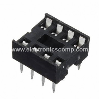 8 Pin IC Base (DIP) - 2 Pieces Pack