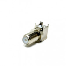 90 Degree F Type Connector Female Bulkhead For PCB Mount