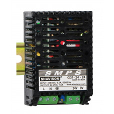 G31-24-24 Shavison SMPS - 24V 1A - 24W DIN Rail Mountable Metal Power Supply