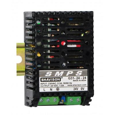 G31-24-24 Shavison SMPS - 24V 1A - 24W DIN Rail Mountable Metal Power Supply