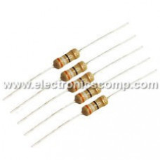 100K ohm Resistor - 1/4 watt - 5 Pieces Pack