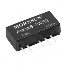 A2412S-1WR2 Mornsun 24V to ±12V DC-DC Converter 1W Power Supply Module - Ultra Compact SIP Package