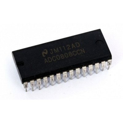 ADC0808 8-Bit A/D Converter with 8-Channel Multiplexer IC DIP-28 Package