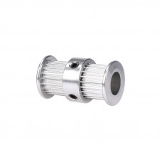 Aluminum GT2 Timing Double Head Pulley 20 Tooth 8mm Bore For 6mm Belt