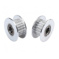 Aluminum GT2 Timing Idler Pulley For 6mm Belt 20 Tooth 5mm Bore - 2 Pieces Pack