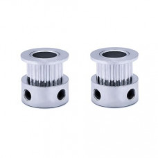 Aluminum GT2 Timing Pulley 20 Tooth 8mm Bore for 6mm Belt - 2 Pieces Pack