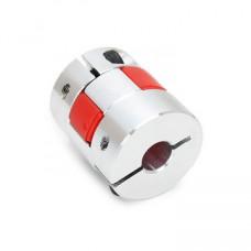 Aluminum OD:25mm L:33mm Flexible Spider Shaft Coupling Bore: 5x12mm