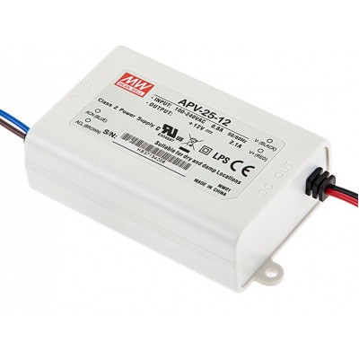 APV-25-12 Mean Well SMPS 12V 2.1A 25.2W LED Power Supply