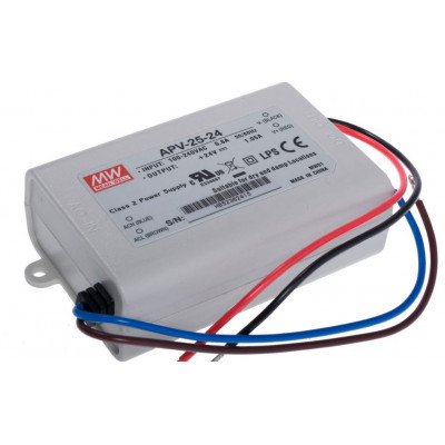 APV-25-24 Mean Well SMPS 24V 1.05A 25.2W LED Power Supply