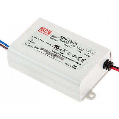 APV-35-24 Mean Well SMPS - 24V 1.5A 36W LED Power Supply