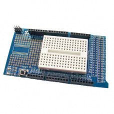 Prototype Shield (Protoshield) for Arduino Mega with Mini Breadboard