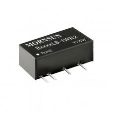B1212LS-1WR2 Mornsun 12V to 12V DC-DC Converter 1W Power Supply Module - Ultra Compact SIP Package