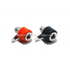 Banana Jack Plug Connector - Female - Black & Red Pair - 4mm