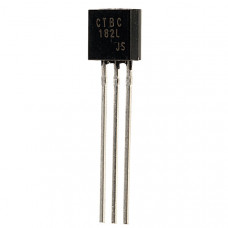 BC182L NPN General Purpose Amplifier Transistor 50V 100mA TO-92 Package