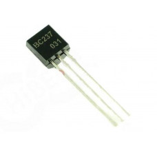 BC237 NPN General Purpose Amplifier Transistor 45V 100mA TO-92 Package