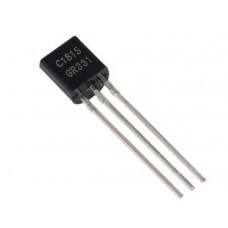 C1815 NPN Audio Frequency Amplifier Transistor 50V 150mA TO-92 Package - 5 Pieces Pack
