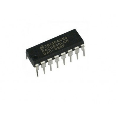 DAC0800 8-Bit Digital to Analog D/A Converter IC DIP-16 Package
