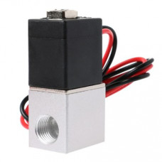 DC 24V Solenoid Valve 1/4 inch 2 Way Normally Closed Direct-Pneumatic Valves For Water Air Gas Hot