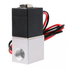 DC 24V Solenoid Valve 1/8 inch 2 Way Normally Closed Direct-Pneumatic Valves For Water Air Gas Hot