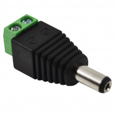 DC Power Jack - Male Connector with 2 pin Screw Terminal