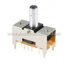 DPDT Center Off Rocker Toggle Switch - Spring Action- PCB Mount