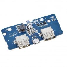 Dual Micro USB 3.7v to 5V 2A Power Bank DIY 18650 LiPo Charger