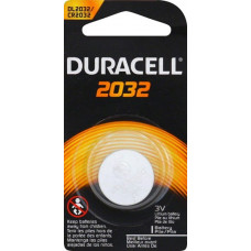 Duracell DL2032 (CR2032) 3V 225mAh Lithium Coin Cell Battery