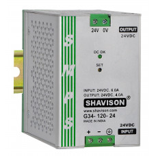 G31-120-24 Shavison  SMPS - 24V 5A - 120W DIN Rail Mountable Metal Power Supply