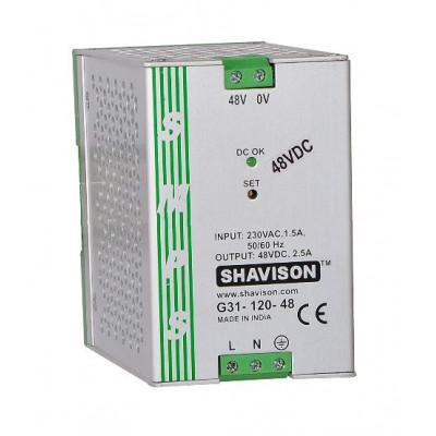 G31-120-48 Shavison SMPS - 48V 2.5A - 120W DIN Rail Mountable Metal Power Supply