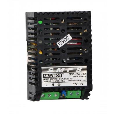 G31-24-12 Shavison SMPS - 12V 2A - 24W DIN Rail Mountable Metal Power Supply