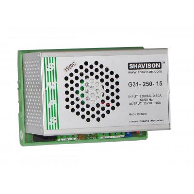 G31-250-15 Shavison SMPS - 15V 15A - 225W DIN Rail Mountable Metal Power Supply