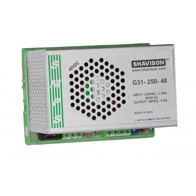 G31-250-48 Shavison SMPS - 48V 5A - 240W DIN Rail Mountable Metal Power Supply