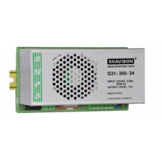 G31-360-24 Shavison SMPS - 24V 15A - 360W DIN Rail Mountable Metal Power Supply