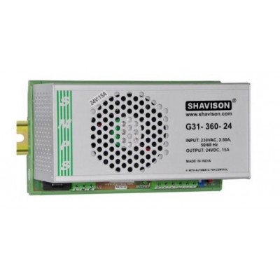 G31-360-24 Shavison SMPS - 24V 15A - 360W DIN Rail Mountable Metal Power Supply
