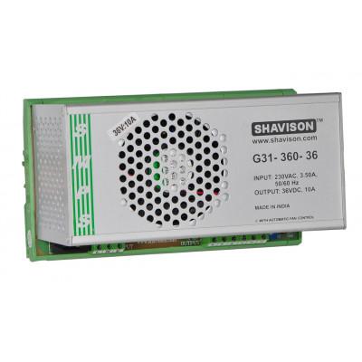 G31-360-36 Shavison SMPS - 36V 10A - 360W DIN Rail Mountable Metal Power Supply