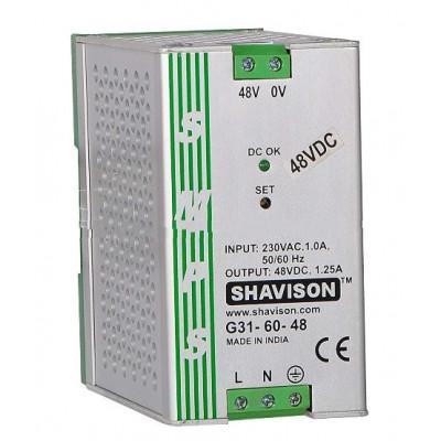 G31-60-48 Shavison SMPS - 48V 1.25A - 60W DIN Rail Mountable Metal Power Supply