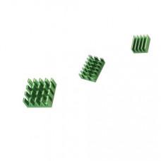 Green 3 in 1 Heat Sink Set Aluminum for Raspberry Pi 4 Model B