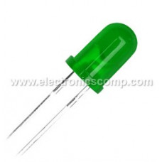 Green LED - 5mm Diffused - 5 Pieces Pack