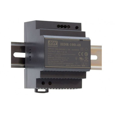 HDR-100-48 Mean well SMPS - 48V 1.92A 92.2W Din Rail Metal Power Supply