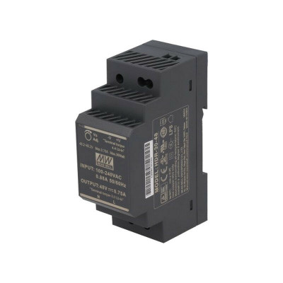HDR-30-48 Mean well SMPS - 48V 0.75A 36W Din Rail Metal Power Supply