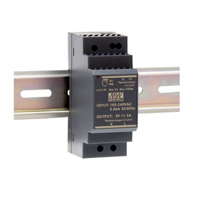 HDR-30-5 Mean well SMPS - 5V 3A 15W Din Rail Metal Power Supply