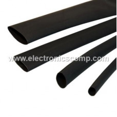 Heat Shrink Tube - 1 mm Diameter - Black - 1 meter
