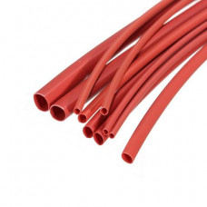 Heat Shrink Tube - 6 mm Diameter - Red - 1 meter