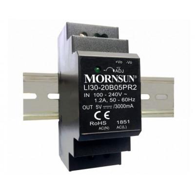 LI30-20B05PR2 Mornsun SMPS - 5V 3A 15W AC/DC DIN Rail Power Supply