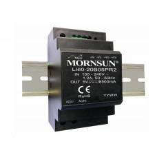 LI60-20B24PR2 Mornsun SMPS - 24V 2.5A 60W AC/DC DIN Rail Power Supply