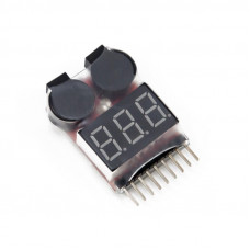Lipo Battery Voltage Tester with Buzzer Alarm
